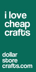 a whole website devoted to diy crafts using materials from the dollar store.
