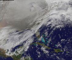 Disso Voce Sabia?: Vórtice polar sobre os EUA é visto do espaço em impressionante foto