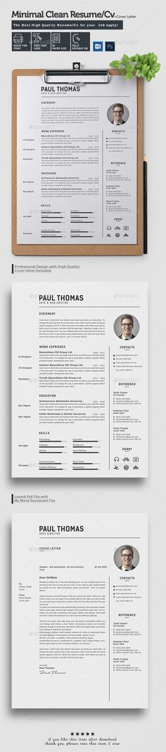 Resume CV Template MS WORD, AI, EPS, PSD, PDF Download here   - is a cv a resume
