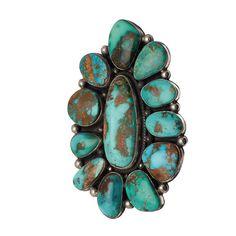 Bague turquoise et argent Navajo | Harpo Paris #bijouxamérindiens #bagueturquoise #navajo