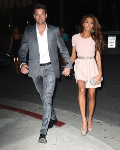 Newlyweds Crystle Stewart and Max Sebrechts on a night out #love #wmbw #bwwm