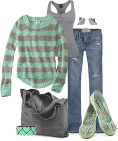 Gray and Mint so cozy and cute