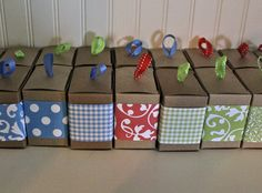 12 Kraft Favor Boxes 3x3x2 by Paperjacks