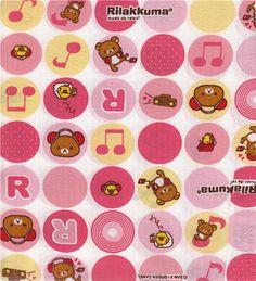 Kawaii Rilakkuma Music Fabric from San-X Japan @modes4u