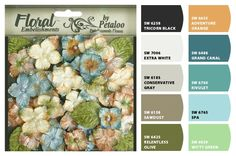 Paint colors from Chip It! by Sherwin-Williams LOVE the teals