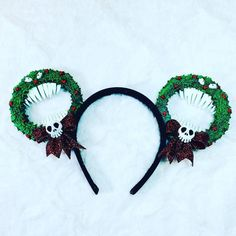 Man eating wreath ears nightmare before Christmas Disney Ears, Coordinating Fabrics, Nightmare Before Christmas, Im Not Perfect, Etsy Seller, Wreaths, Handmade, I'm Not Perfect, Hand Made