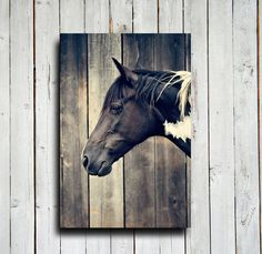 Paint Horse Head Horse decor Horse art by EmeraldTownRaven