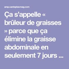Tips for Anti Diet Solution - Ça s'appelle « brûleur de graisses Anti Cellulite, Keep Fit, Healthy Smoothies, Immune System, Body Care, Meal Planning, Improve Yourself, Lose Weight, Health Fitness
