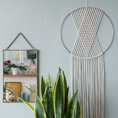SEINE wall hanging looks gorgeous on that mint wall