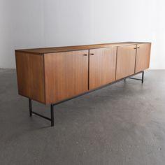 Herbert Fuchs; Teak and Enameled Steel Sideboard, 1950s.