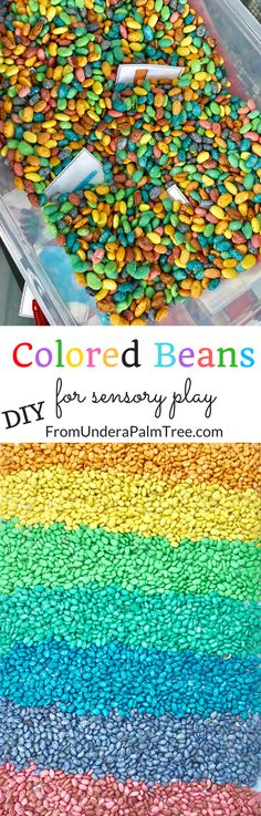 diy colored beans | DIY | DIY kids activities | DIY learning games for kids | learning for kids | toddler learning games | toddler learning activities | how to dye beans | how to color beans | sensory play | sensory play activities for kids | sensory activities for toddlers | sensory activities for 2 year olds | sensory games | sensory play ideas | kids activities | kids learning | counting activities for kids | color recognition | color sorting games | discovery play for kids |
