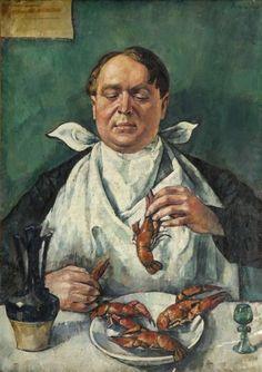 Roman Kramsztyk - Jedzący raki (Portret Karola Szustra)