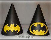 Batman Inspired Birthday Party Hats. $32.00, via Etsy.