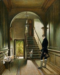 The Staircase of the London Residence of the Painter, 1828 ~ Pieter Christoffel Wonder ~ (Utrecht, 1780-1852 Amsterdam)