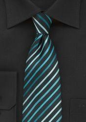 XXL-Krawatte Streifendessin nachtschwarz blaugrün günstig kaufen