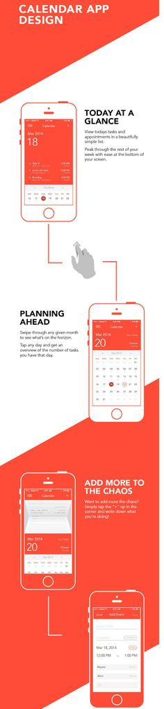Calendar App Design on Behance Mobile Ui Design, App Ui Design, User Interface Design, Flat Design, Calendar App, Calendar Design, Design Thinking Process, Desktop, App Design