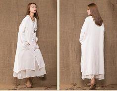 Women Cotton Linen Coat