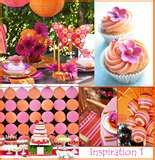 Image detail for -Orange and Hot Pink Wedding Theme Favors and Decorating Ideas