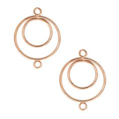 Copper Plated 25mm Chandelier Earring Findings, Pair