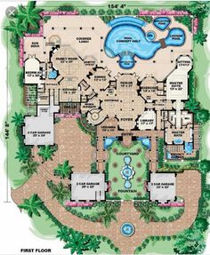 I like the concept of another 1000 sq ft more or less for a backyard with pool and hot tub but also the front yard having its own grand entry way