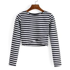 Sexy V Neck Long Sleeve Mesh Splicing Crop Top For Women ($10 ...