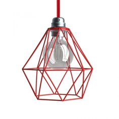 Match Naked light bulb cage lampshade Diamond Black colored metal with one of our lamp holder with ferrules and one of our 120 colors of fabric covered electrical cables Copper Lampshade, Lampshades, Pendant Lamp, Pendant Lighting, Decorative Lamp Shades, Tons Clairs, Design Vase, Cage, Suspension Design