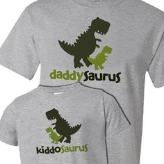 Matching dad and kid / baby dinosaur theme by zoeysattic on Etsy, $34.50