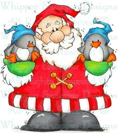 Santa's Feathered Friends - Christmas Images - Christmas - Rubber Stamps - Shop