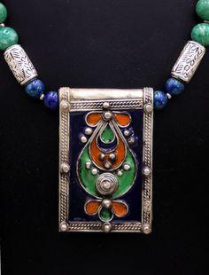 berber silver and enamel