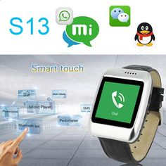 2015 Bluetooth 4.0 IOS&Android SOS Smart Watch S13 reloj inteligente with G-sensor/Waterproof for apple iphone 6/6 plus samsung Discounted Smart Gear discountsmarttech...