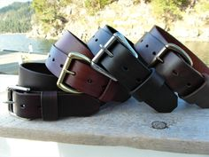 Classic Plain Leather Belt handmade in Canada. This gorgeous leather gets better with age and comes with a Lifetime Guarantee.