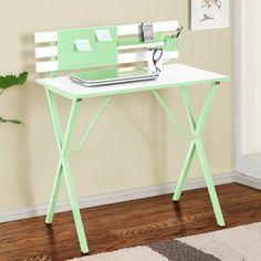 "Zipcode Design Hannah 32"" W Writing Desk Finish: Green / White"