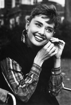 1954: Audrey on the set of Sabrina  #Audrey #Hepburn #Princess #icon #legend #oldhollywood #actress #movie #star #smile #perfect #adorable