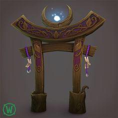 Legion:  Night Elf Druid Props, Ashleigh Warner on ArtStation at https://www.artstation.com/artwork/Ggd4N
