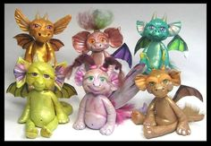 New Polymer Clay Creations  I love these baby dragons