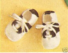 Vintage PATTERN/Instructions to make Baby Soft Shoes Saddle Oxfords Booties Sadd