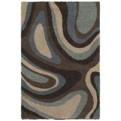 Mohawk Ink Swirl Cocoa 8 ft. x 10 ft. Area Rug-286996 at The Home Depot