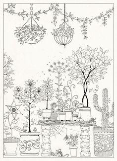 jardim secreto johanna desenhos para colorir