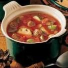 A Tomato Zucchini Soup for two from Taste of Home