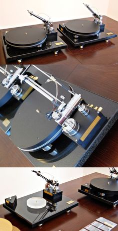 Nice Twins:) pre-audio.com/en #recordplayer #tangentialtonearm #lineartrackingtonearm #turntable Diy Turntable, Audiophile Turntable, Turntable Record Player, Record Players, Technics Sl 1200, Diy Storage Cabinets, High End Turntables, Technics Turntables, Dj Setup