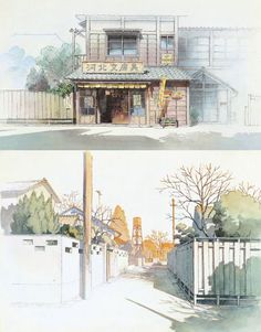 Art by 男鹿 和雄 Kazuo Oga* - Background Art | © Studio Ghibli* • Blog/Website | (www.ghibli.jp) ★ || CHARACTER DESIGN REFERENCES (www.facebook.com/CharacterDesignReferences & pinterest.com/characterdesigh) • Love Character Design? Join the Character Design Challenge (link→ www.facebook.com/groups/CharacterDesignChallenge) Share your unique vision of a theme every month, promote your art and make new friends in a community of over 25.000 artists! || ★