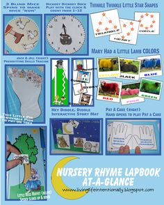 Nursery Rhymes Interactive Lapbook from Living Life Intentionally