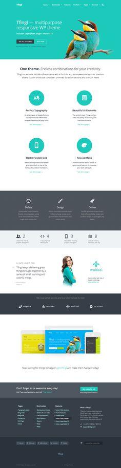 Responsive portfolio website template - WordPress