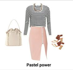 Pastel casual smart work or day wear