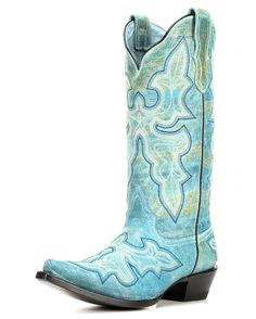 Roper | Women's Turquoise Vamp Boot | Country Outfitter