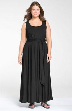 Calvin Klein plus size maxi dress | via Nordstroms