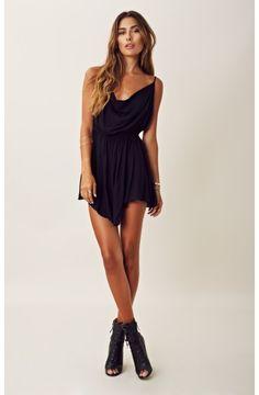 indah | open back short dress