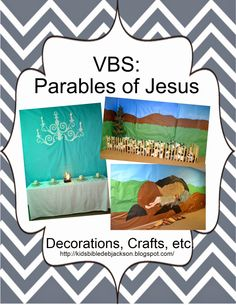 We did Parables of Jesus this year for Vacation Bible School. This will be the main post with the church building photos, craft ideas, an. Bible Activities For Kids, Bible Lessons For Kids, Bible For Kids, Kids Bulletin Boards, Parables Of Jesus, Kids Church, Church Camp, Church Ideas, The Lost Sheep