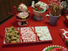 Having a Christmas party?  How about a Hot Chocolate bar!  What a cleaver idea!