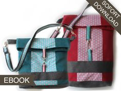 Nähanleitungen Taschen - E-Book Kuriertasche Lilou & Little Lilou - ein Designerstück von modage bei DaWanda